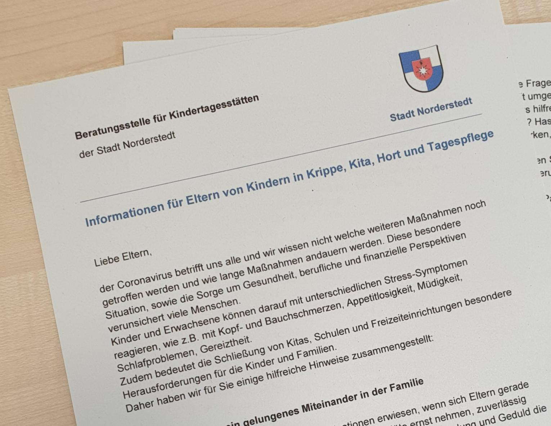 Elternbrief der Beratungsstelle