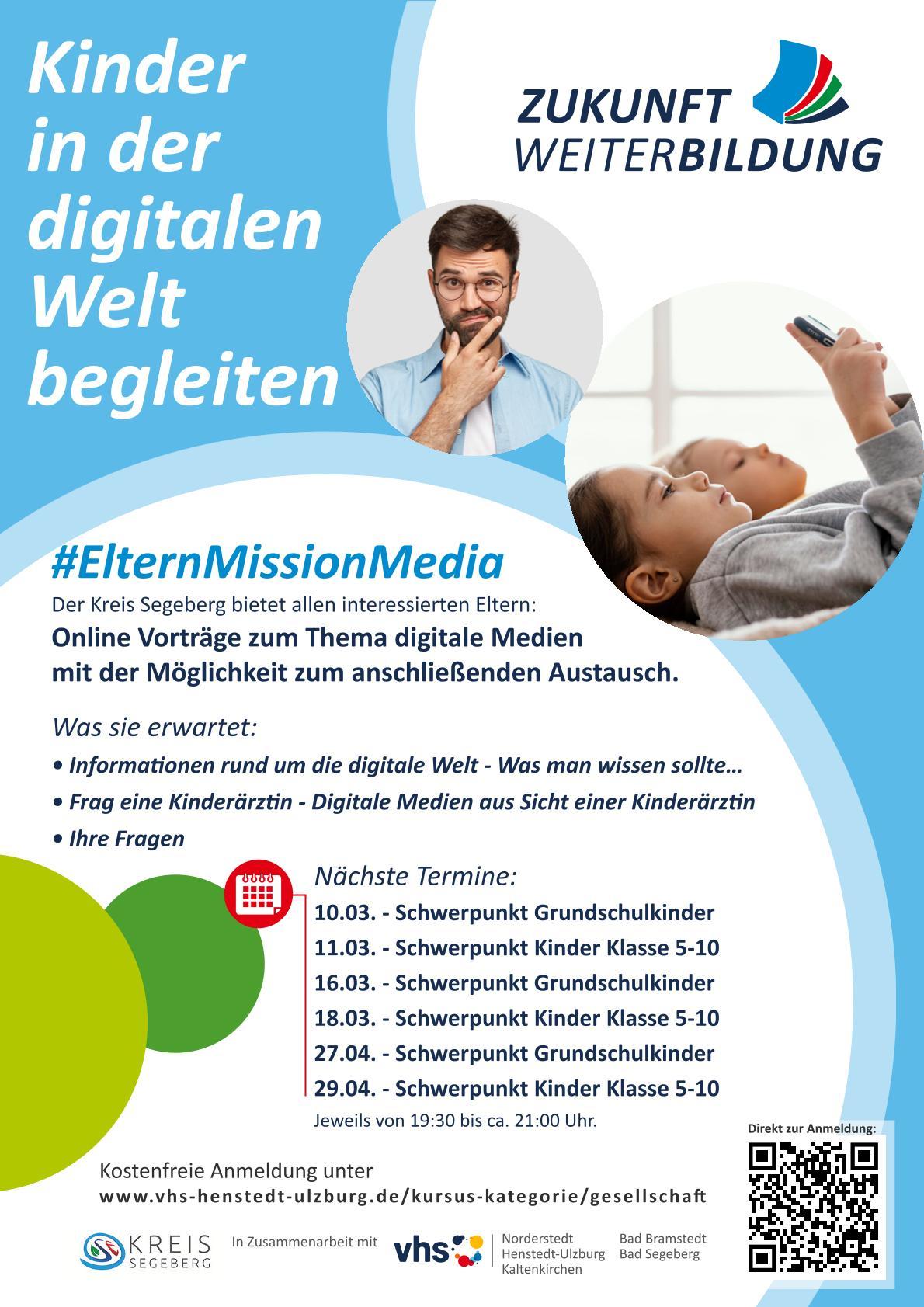Online Veranstaltung, Kinder in der digitalen Welt begleiten